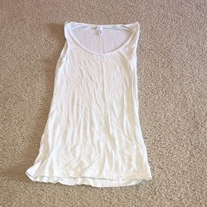 White Sequin Tank Top